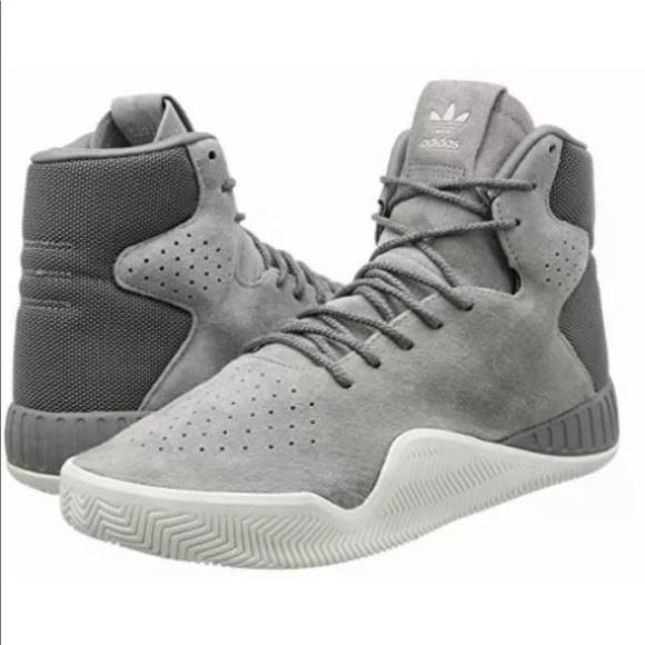 more photos 9e982 7995a Adidas tubular instinct High Top Suede Sneakers NWT